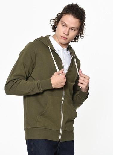 Jack & Jones Kapüşonlu Fermuarlı Sweatshirt Renkli